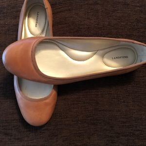 Gently lands end leather flats